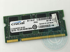 MEMORIA RAM MEMORY CRUCIAL 2GB 200PIN DDR2 SODIMM 256MX6 CT25664AC667.M 16FH