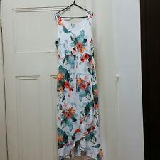 ROCKMANS Floral Maxi Dress Frill Flounce Size 14