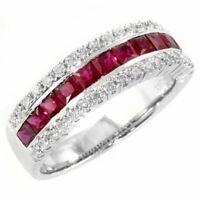Rubin Diamant Brillant Ring 1,85 Karat 585er Weißgold >Alle Ringgrößen<