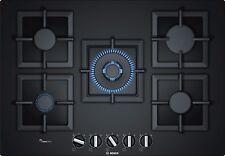 Piano cottura a gas Bosch PPQ7A6B20 di 75 cm - Vetro temperato nero