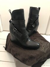 Sartore Leather Black Boots Size 5