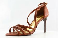 Ralph Lauren Collection Strappy Brown Leather Women Shoes Size 8.5 Medium (B, M)