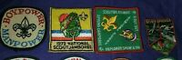 Vintage 1960's 70's Boy Scouts Patches Lot , Boy Power, Jamboree,Scouting Rounds