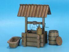 Eureka XXL 1/35 European Wooden Water Well with Bucket Barrel & Manger ED-3505