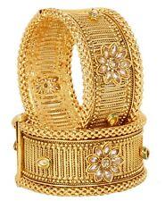 US Indian Bollywood Gold Plated Traditional Pakistani Bangle Bangle Kada Jewelry