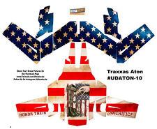 American Flag Traxxas Aton Plus Body Wrap Decal Skin Sticker Canopy USA Ultra...
