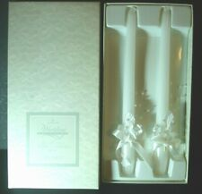 "WEDDING CANDLES WHITE DECO 10"" TAPER-HALLMARK COLLECTION -NOS"