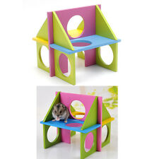 Pet Mouse Rat Hamster Wooden Funny Fun Gym Playground Exercise Safe Toy Colorful