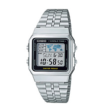Casio A500WA-1DF Stainless Steel Resin Strap Watch