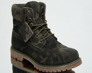 Timberland Women's 6 Inch Premium Waterproof Boots Lifestyle Shoes Leaf A1UKK