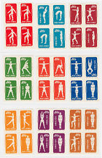 1952 China Stamp Exercise Reprint Block of 4 Short Set 9 Values
