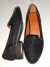 Flat Black Faux Suede Slip On Shoes Size 5 Wide Fit (EEE) BNWT~~~ Evans RRP £36