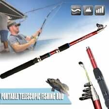 "Arenae II  180 1.8M Mini Telescopic Collapsible ""Fiberglass"" Fishing Rod & Reel"