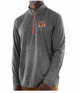 Cincinnati Bengals Men's Intimidating Performance 1/2 Zip Top Jacket - Charcoal