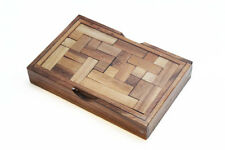 YASUMI Wooden Game Puzzle - Strategy Board Game, Brain Teaser - Travel Size, NEW