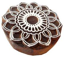 Floral Design Wooden block stamp Tattoo from India Textile Printing Block