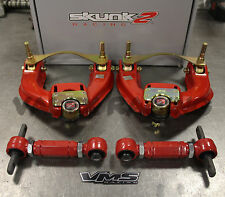 Skunk2 Pro Series FRONT & VMS REAR Camber Kit Combo 88-91 Honda Civic EF