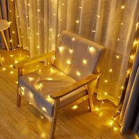 3x2m 240 LED wasserdichte Lichterkette Lichtervorhang Warmweiß Weihnachten Deko