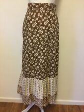 Vintage Cotton Maxi Skirt Size Uk 6 1970s Hippy Boho Festival