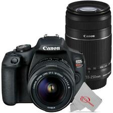 Canon EOS Rebel T7 24.1MP DSLR Camera with 18-55mm + Canon 55-250 IS II Lens