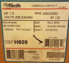AO SMITH Century AC Motor H609 1.5 HP 200-230/460V 3450/2850 RPM 3 Phase