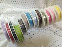 Tiny Gingham Ribbon - 5mm width - 13 Shades - 25 metre full reel!!