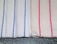 Vintage Closed Feed Sack Feedbag Quilt Doll Clothes Fabric Red Stripes