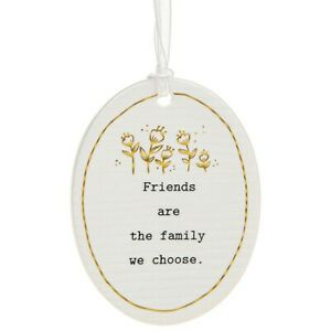 Thoughtful Words Plaque : Friends Are The Family We Choose