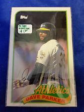 1989 LJN Topps Baseball Talk - #116 - Dave Parker - Athletics - MLB