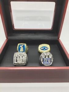 Set of 4 New York Giants Super Bowl Championship Ring Giants Ring with Box