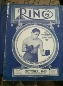 Vintage Original Ring Magazine. October 1925. Ruby Goldstein Cover.