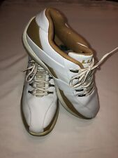 LUGZ Mens Sz 11.5 White and Brown Leather Tennis Shoes