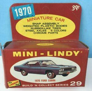 1970 Lindberg MINI-LINDY #29 Yellow FORD COBRA Complete in box 1:64