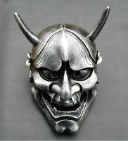 adult Japanese Noh Hannya Mask Evil Demon Devil Horned Horror halloween Costume