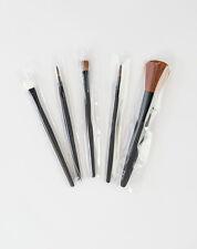 5 make-up applicators - powder brush, lip brushes, eye shadow brush/applicator
