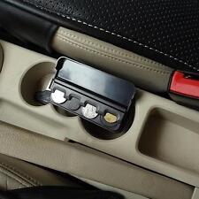 Car Storage Coin Money Holder Change Organizer Box Travel Piggy Bank Black MA