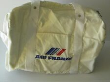 vintage AIR FRANCE CARRY ON TOTE white old airplane plane collectible french