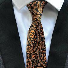 Men Color Skull Crossbones Pink Stripes Printing Casual Tie Necktie