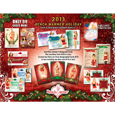 2013 BENCHWARMER HOLIDAY WAX BOX FROM FACTORY SEALED CASE - 10 CARDS PER BOX