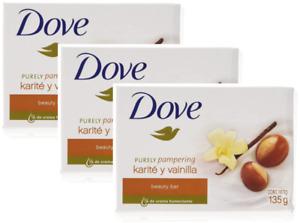 3 pack Dove Beauty Bar Soap Vanilla 4.75oz each