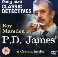 P.D. James - A Certain Justice  (1998) -  Roy Marsden -  DVD N/Paper