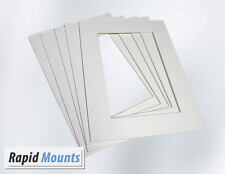 5 Pack Mounts for Pictures  / Photo frames- White Core board. Various Sizes