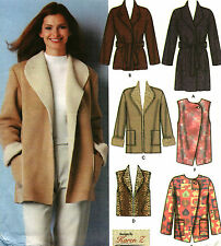 Simplicity Sewing Pattern Coat Jacket Vest Miss XS S M Easy Uncut 5306