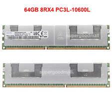 For Samsung 64GB 8RX4 PC3L-10600L DDR3L-1333Mhz Registered LRDIMM Server Memory