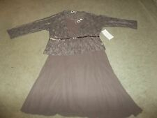 NWT Size 26  Taupe Grey /  Brown  Mother's  Wedding Dress Lace / Lacey Jacket