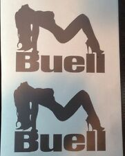 Buell vinyl decals. Set of Two. Silver. Or Choose Your Color