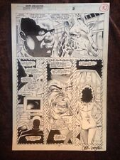 2099 Unlimited  Spiderman 2099 Original Interior Page Signed