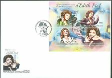 CENTRAL AFRICA 2013 50th MEMORIAL ANNIVERSARY EDITH PIAF SHEET FDC