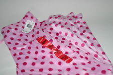 Nautica Plush Cozy Soft Polyester Fleece Pajama Lounge Pants Pink Polka dots M