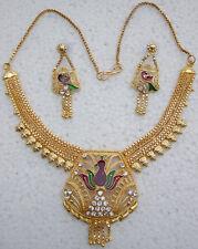 Original Design Handmade Tribal Boho Necklace Gold Plated Gothic Kuchi Festival